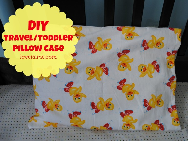 Completed project 2: Toddler/travel pillowcase