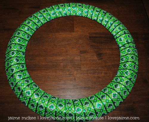 Completed Project: St. Patrick's Day wreath