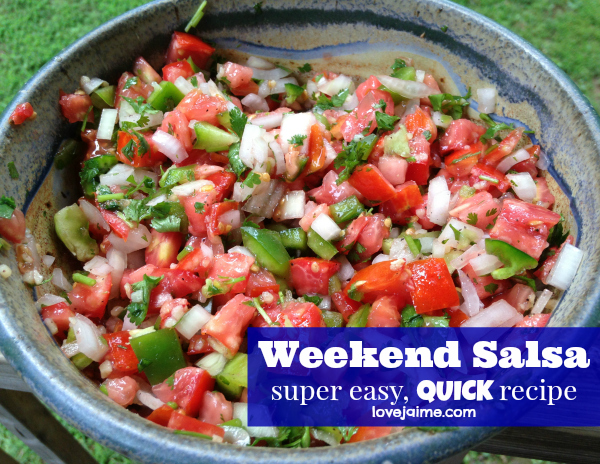 Super easy, very fast salsa recipe