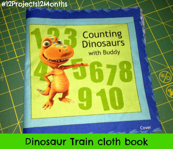 Completed project: Dinosaur Train cloth book #12projects12months