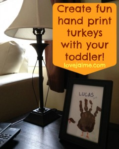 Toddler Hand Print Turkey Art Project #12projects12months