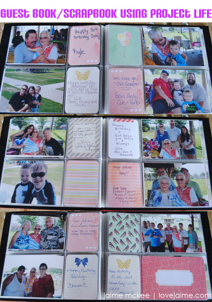DIY: Project Life Party Guest Book #15in15 #diy #scrapbooking #projectlife