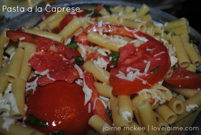 Meal Planning with Pasta a la Caprese #wfd #mealplanning