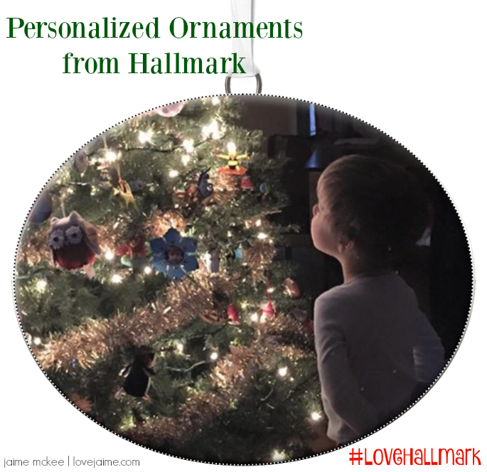 Personalized Hallmark ornament (and giveaway!) #LoveHallmark
