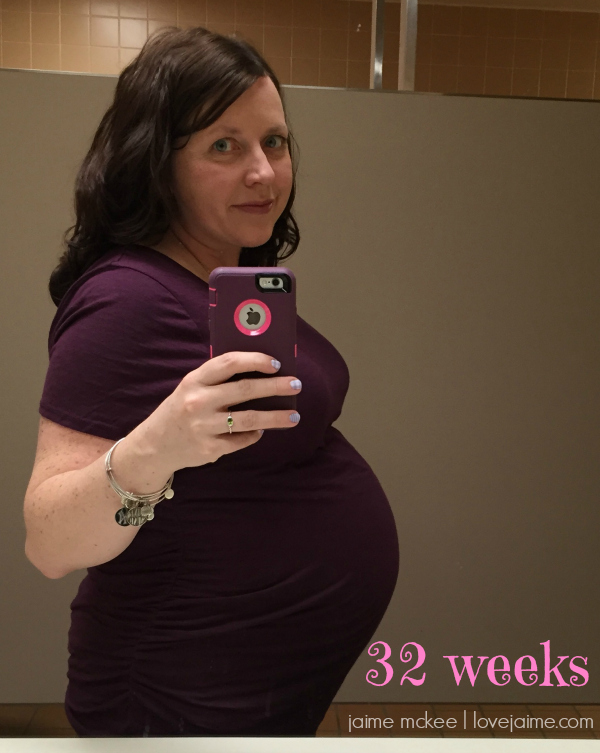 32 weeks pregnant…and needing all the sleep