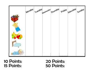DIY reward chart for kids {printable} #diy #printable #kids #behavior