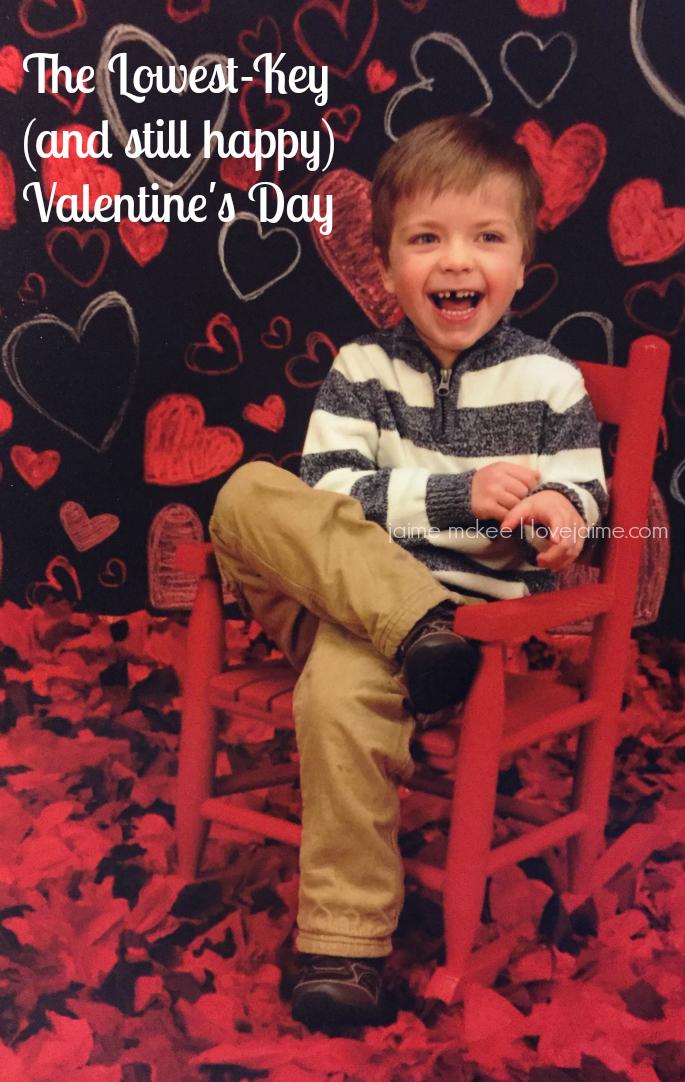 Lowest-key Valentine's Day
