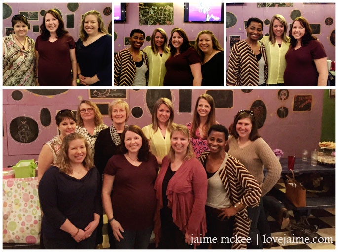 {almost} wordless Wednesday: Baby shower edition