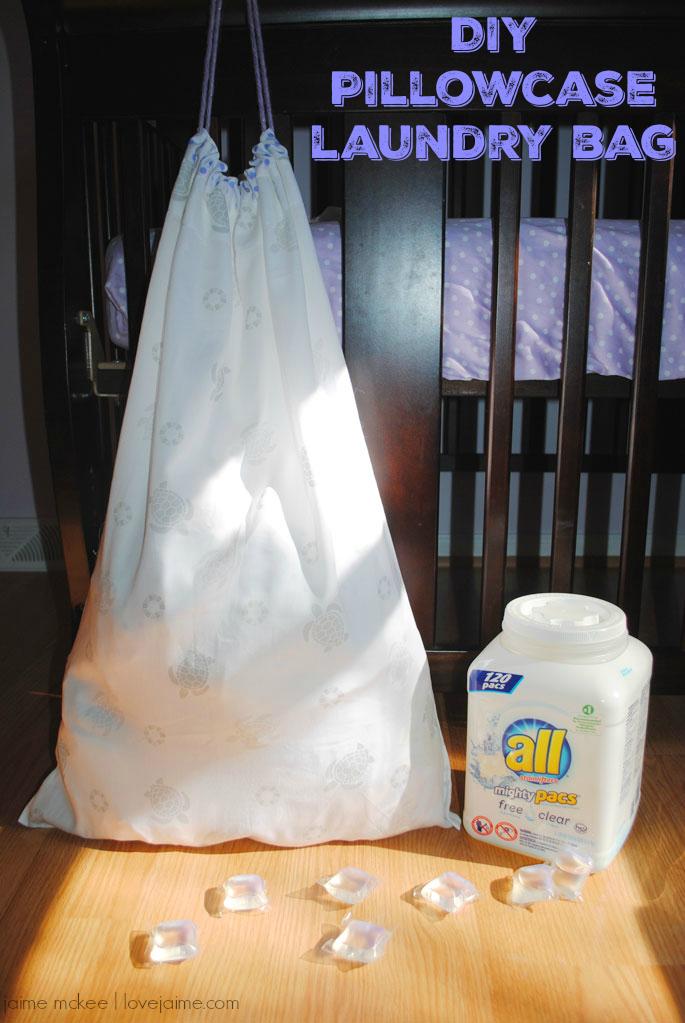 DIY Pillowcase Laundry Bag