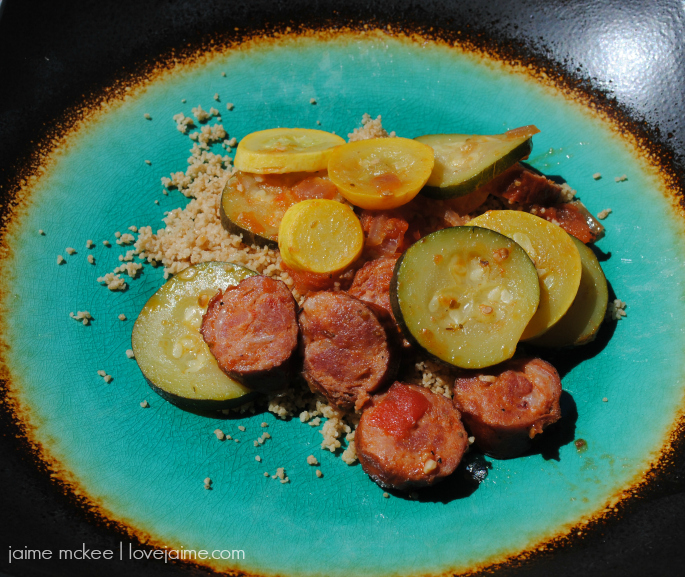 Spicy Sausage and Squash Skillet Recipe @RichardsCajun