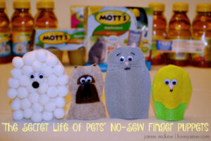 Save big on Secret Life Of Pets (and make no-sew finger puppets!)