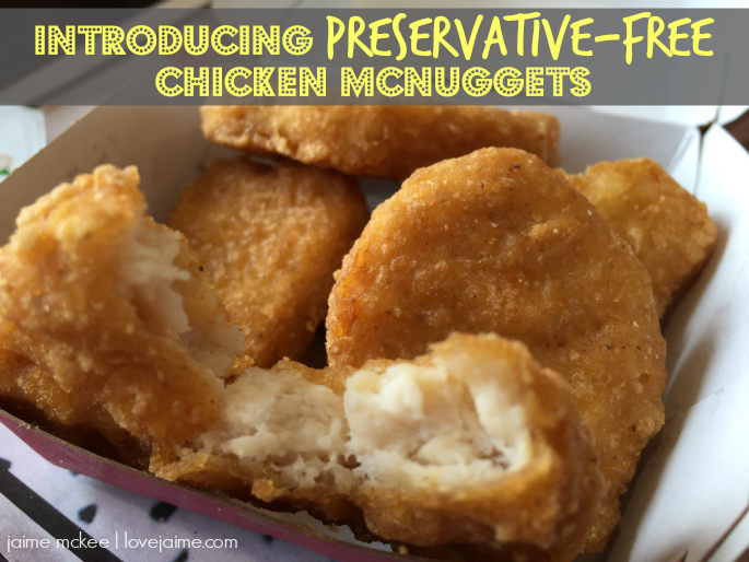 Trying out McDonald's Preservative-Free Chicken McNuggets @McDsGSA