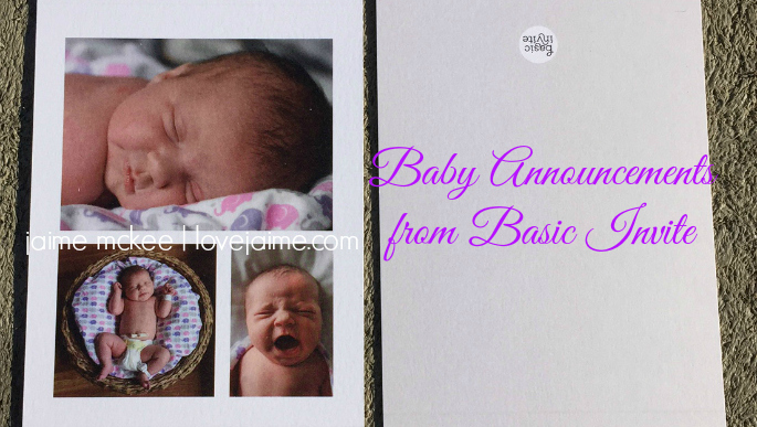 Anything but basic baby announcements from Basic Invite