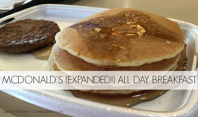McDonald's all day breakfast menu is expanded and better than ever before!
