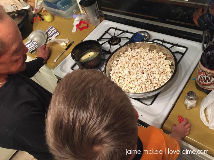 popcorn-making