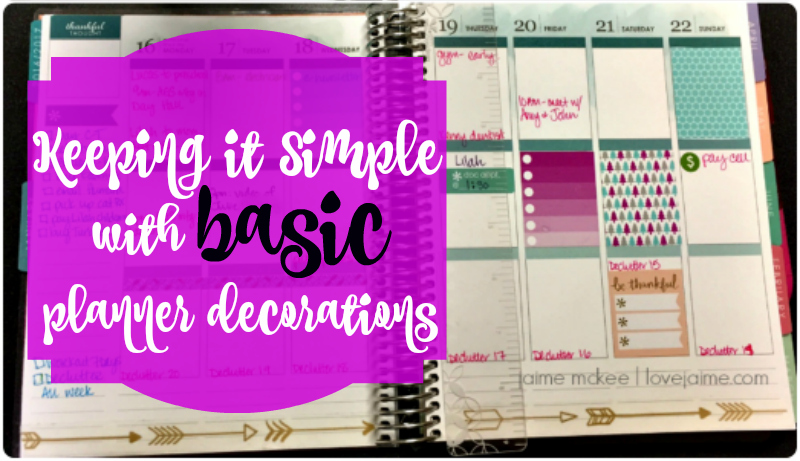 Basic planner decorating using washi tape (and a few stickers)