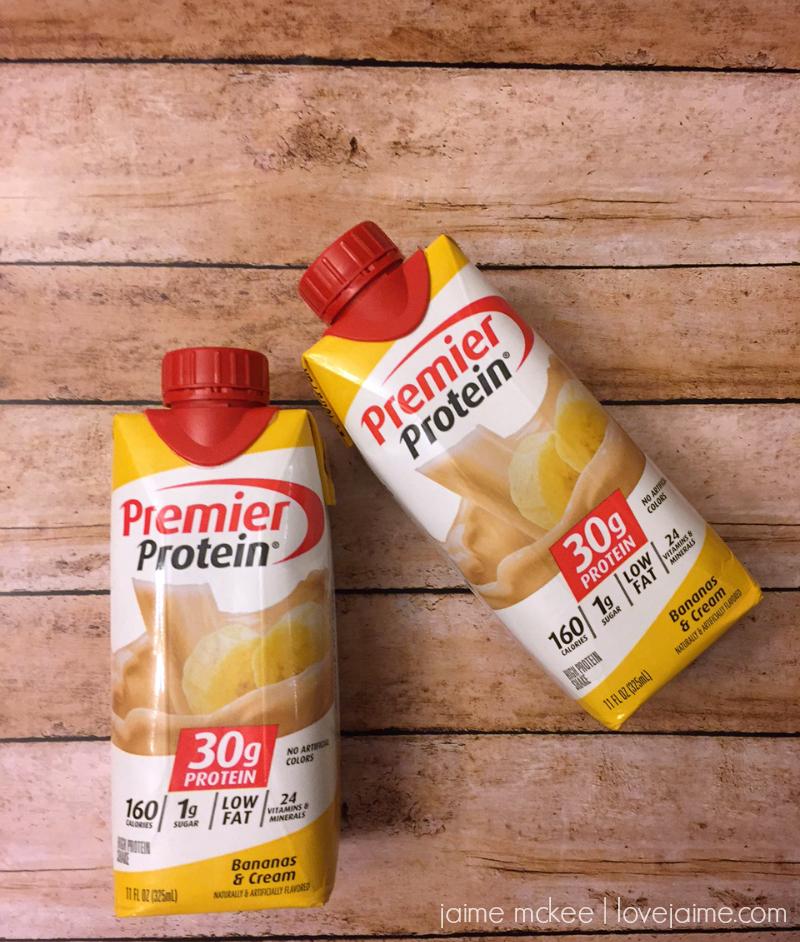 Bananas & Cream Premier Protein shakes