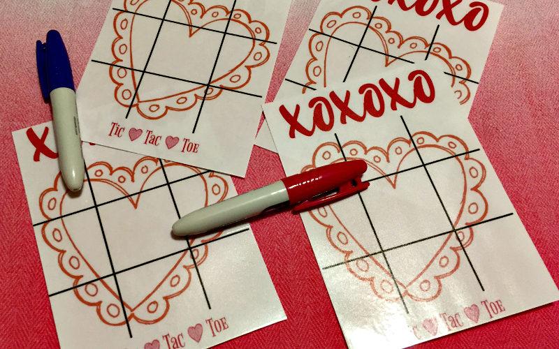 Valentine Tic Tac Toe printable