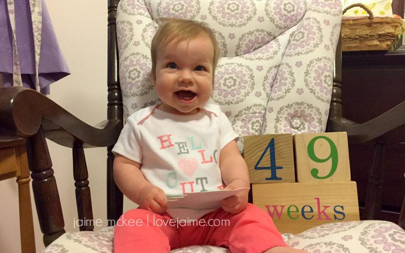 49 weeks {baby update}