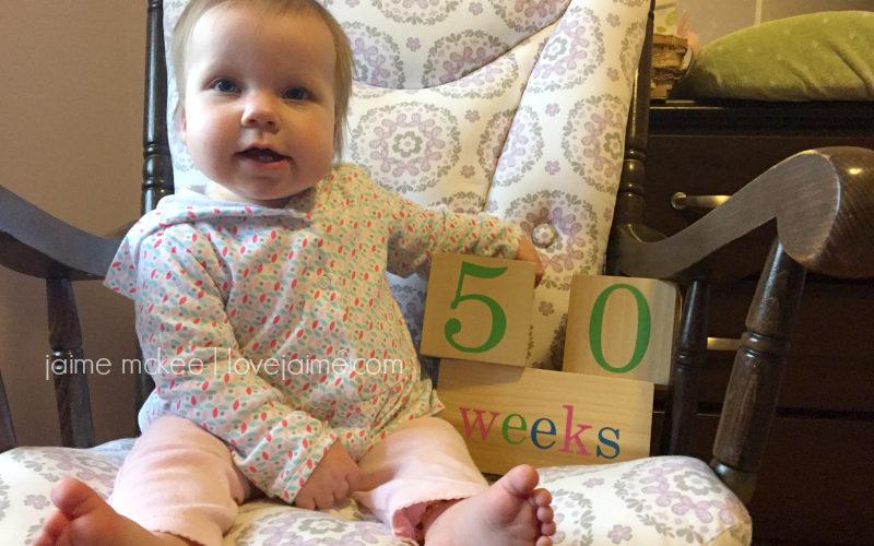 50 weeks {baby update}