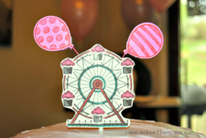 Stampin' Up Cupcakes & Carousels cake topper DIY