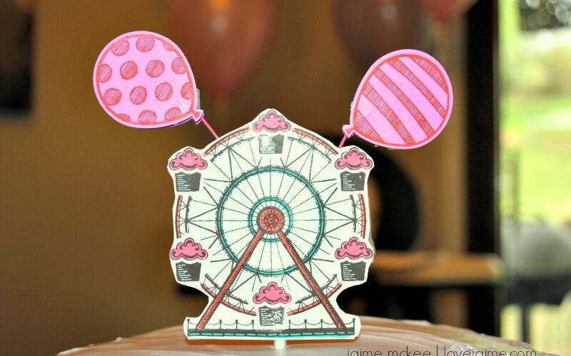 Stampin' Up Cupcakes & Carousels cake topper DIY