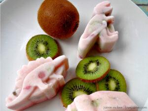 Strawberry Kiwi Frozen Yogurt Dinosaur Treats