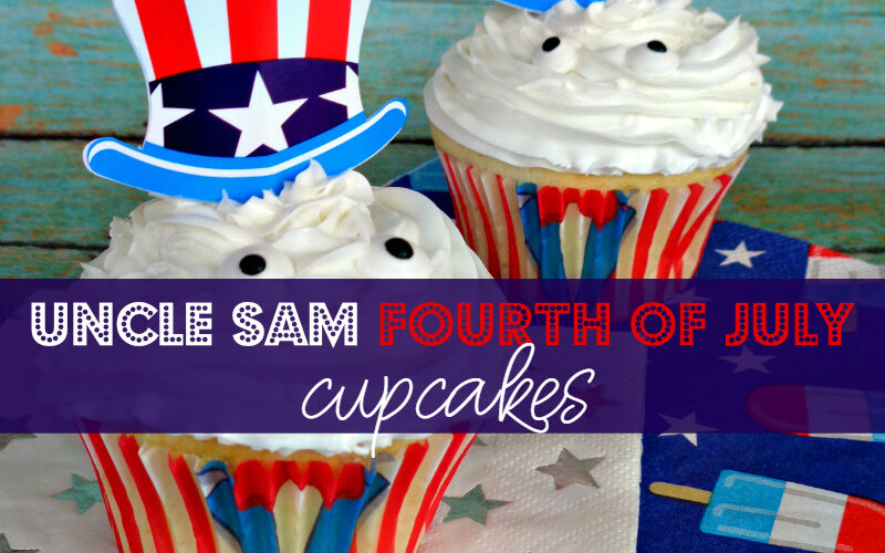 Uncle Sam Fourth of July cupcakes
