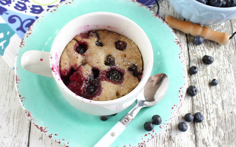 Blueberry Microwave Mug Cake