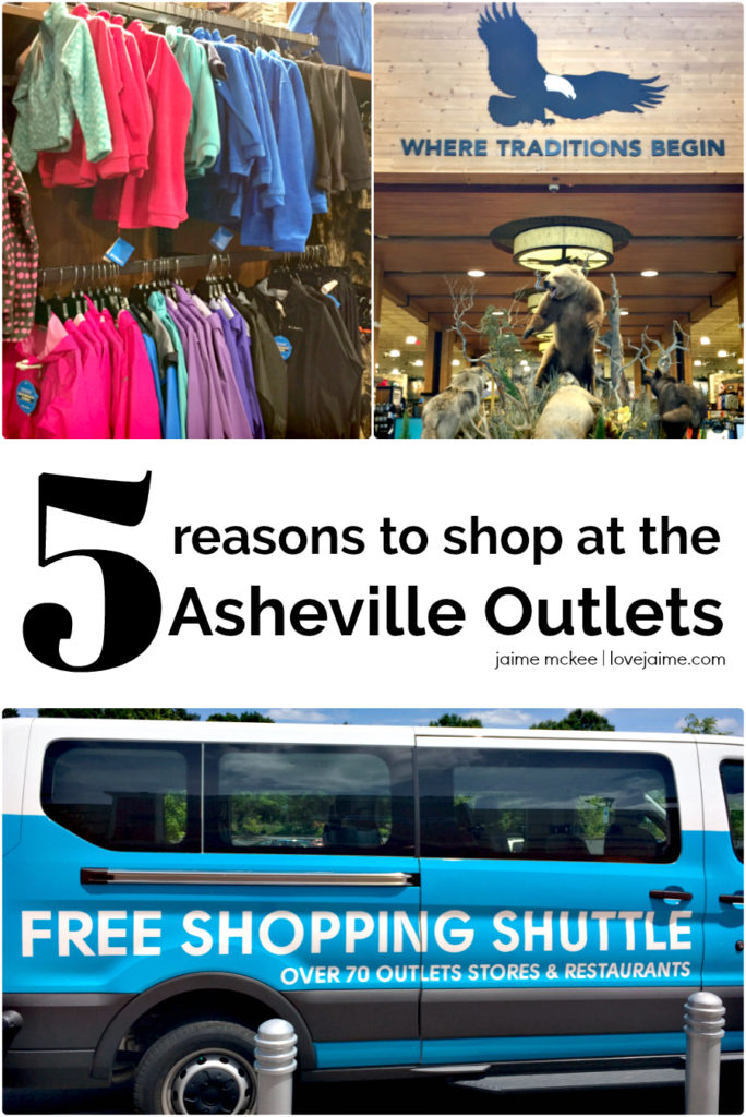 Shopping at the Asheville Outlets is easier now that they have a shuttle service for area hotels!
