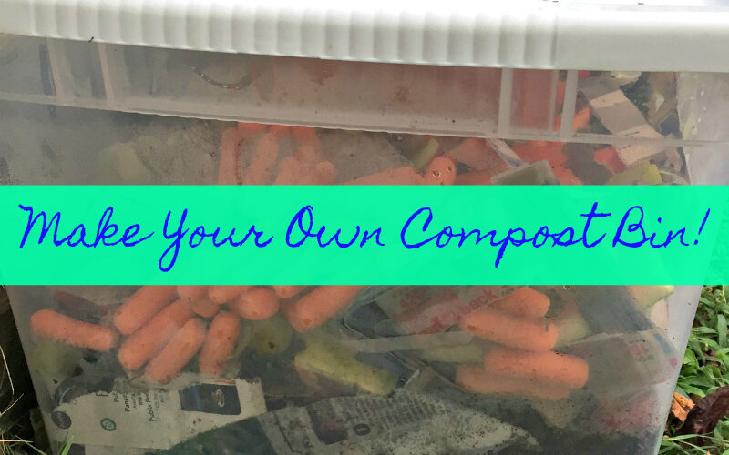 Composting is made easier with this DIY compost bin!