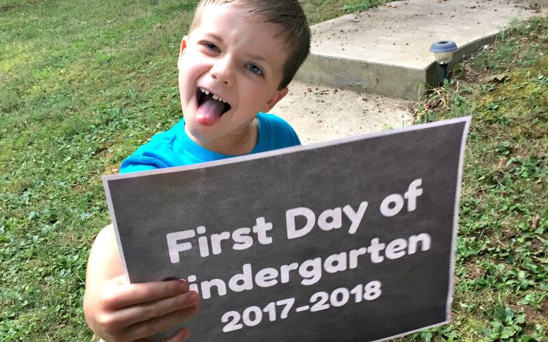 School days – My kindergartner!