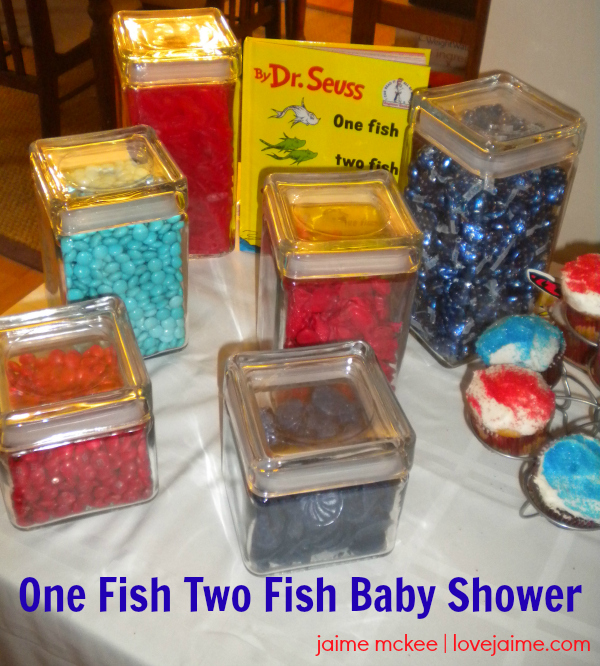 Red Fish, Blue Fish (Dr. Seuss-themed) baby shower