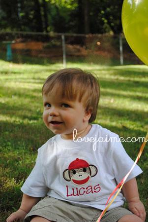 birthday boy and sock monkey shirt