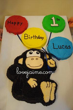 first birthday cake (monkey!)