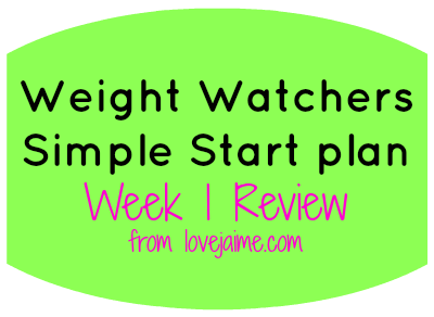 meal planning – Weight Watchers Simple Start week one review