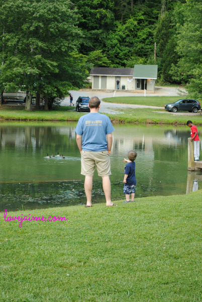 Fishing at Jellystone Park in NC