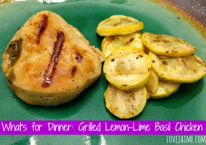 What's for Dinner: QUICK grilled Lemon-Lime Basil Chicken #wfd #chicken #quickmeal #eMeals