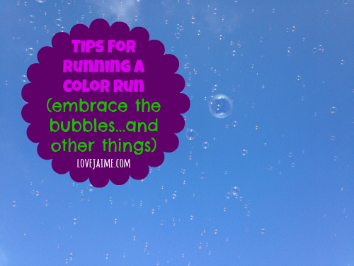 Tips for running a Color Run #Happiest5k