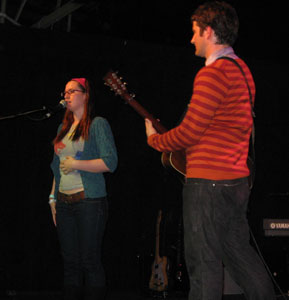 Matt Nathanson and Ingrid Michaelson performed together in Greenville, SC in 2008.