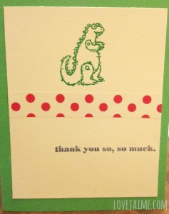 Dinosaur thank you cards #12projects12months
