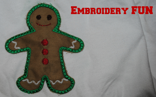 Embroidered pajamas for the holidays #12Projects12Months