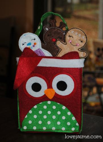 Felt owl bags