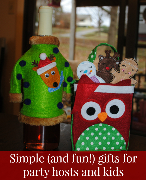 Simple (inexpensive!) gift ideas for hostesses and kids #spon