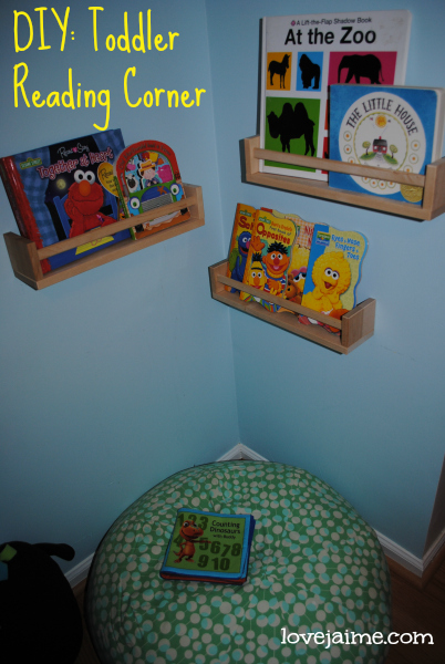 Creating a reading corner for a toddler #12projects12months #DIY