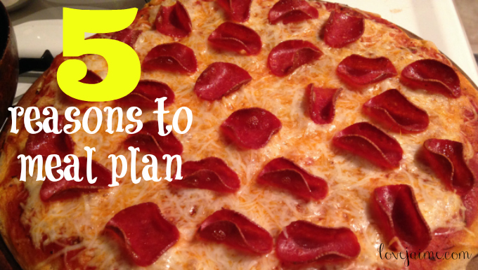5 reasons to meal plan