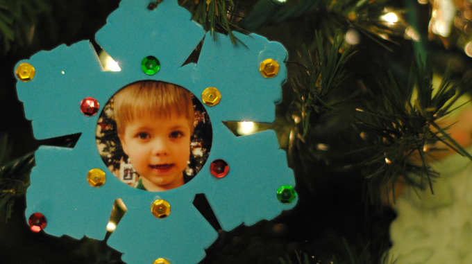 {Quick} holiday ornaments for kids to make #YahooDIY