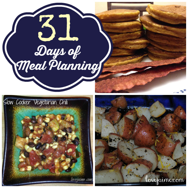 31 Days of Meal Planning