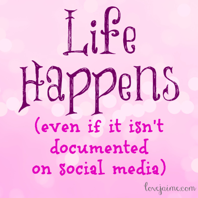 Going hands free: Life happens (even if it isn't documented on social media.) #handsfree