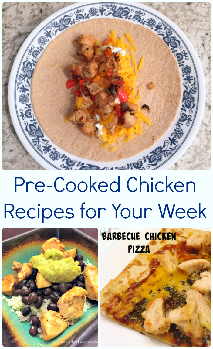 Pre-Cooked Chicken recipes for the week! How to pre-cook chicken, and then what meals you can make when it's ready.